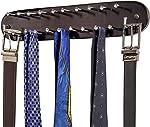 Richards Homewares 21 Closet Tie Rack, Belt Scarf Hanger-Natural Dark Walnut