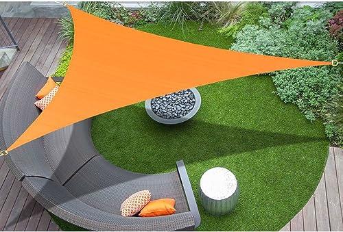 E K Sunrise 9 x 21 x 22.8 Sun Shade Sail -Orange Right Triangle UV Block Durable Awning Perfect for Canopy Outdoor Garden Backyard-Customized