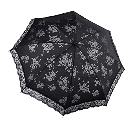 Reinhar NEW Japanese small fresh bud silk lace 3 folding beach ultraviolet-proof sun and