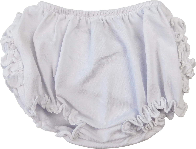 AnnLoren Girls Knit Ruffled Butt Bloomer Baby//Toddler Diaper Cover Sizes 3-6 Months 6-12 Months and 12-24 Months