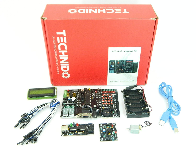 Avr Development Board For Atmega 32 Kit Self Starter Isp Programmer In Sytem Atmel Electronics