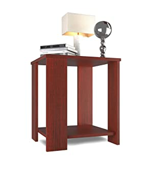 Forzza  FO-ST18Mh Bentley Side Table with Storage (Mahogany)