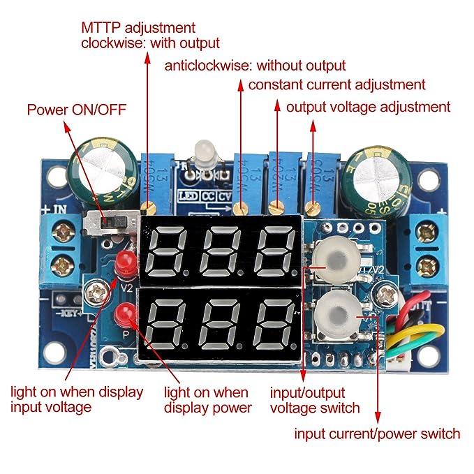 amazon com 5a buck converter drok voltage regulator board dc 6 36v rh amazon com