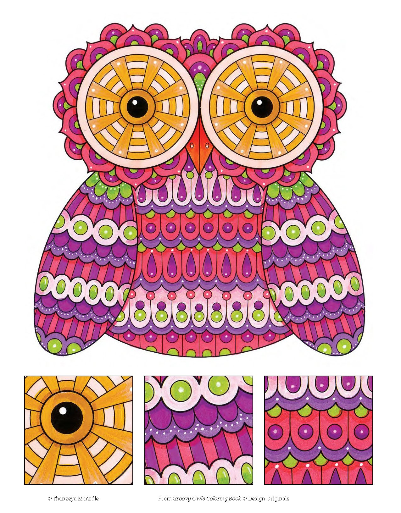 Amazon Groovy Owls Coloring Book Is Fun Design Originals 9781497202078 Thaneeya McArdle Books