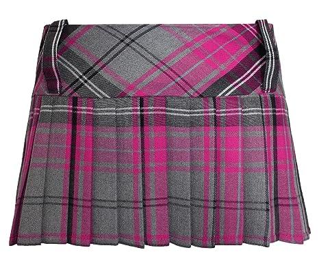 TrendyFashion - Falda - para mujer Multicolor Gris / Rosa: Amazon ...