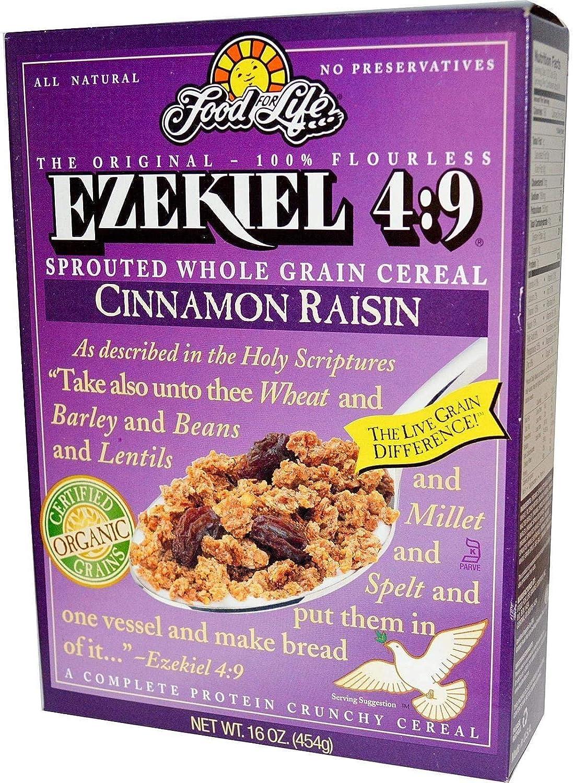 Food For Life Ezekiel 4 9 Gekiemde Volkorencerealen Kaneelrosine 454 G Amazon Nl