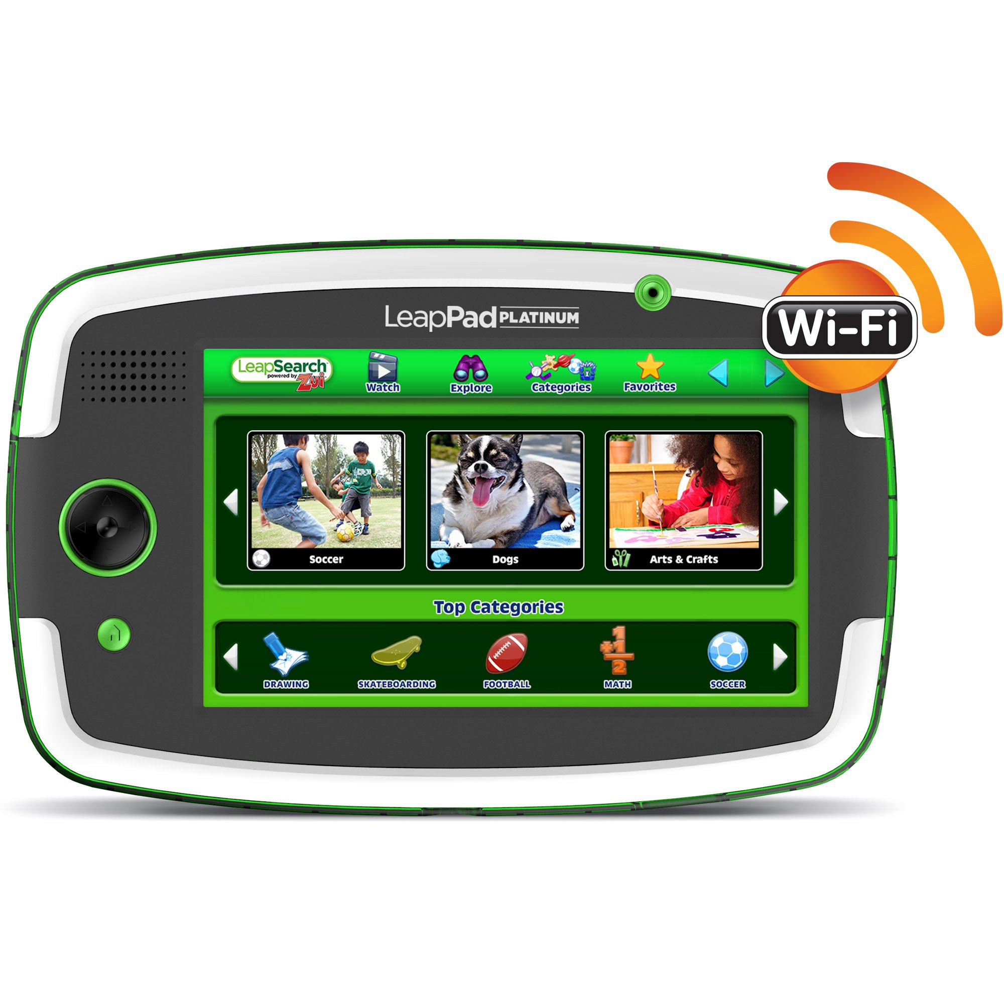 LeapFrog LeapPad Platinum Kids Learning Tablet, Green by LeapFrog. (Image #4)