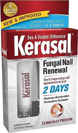 Kerasal Fungal Nail Renewal Treatment 10ml, Restores the Healthy Appearance of Nails Discolored or Damaged by Nail Fungus (Packaging May Vary)
