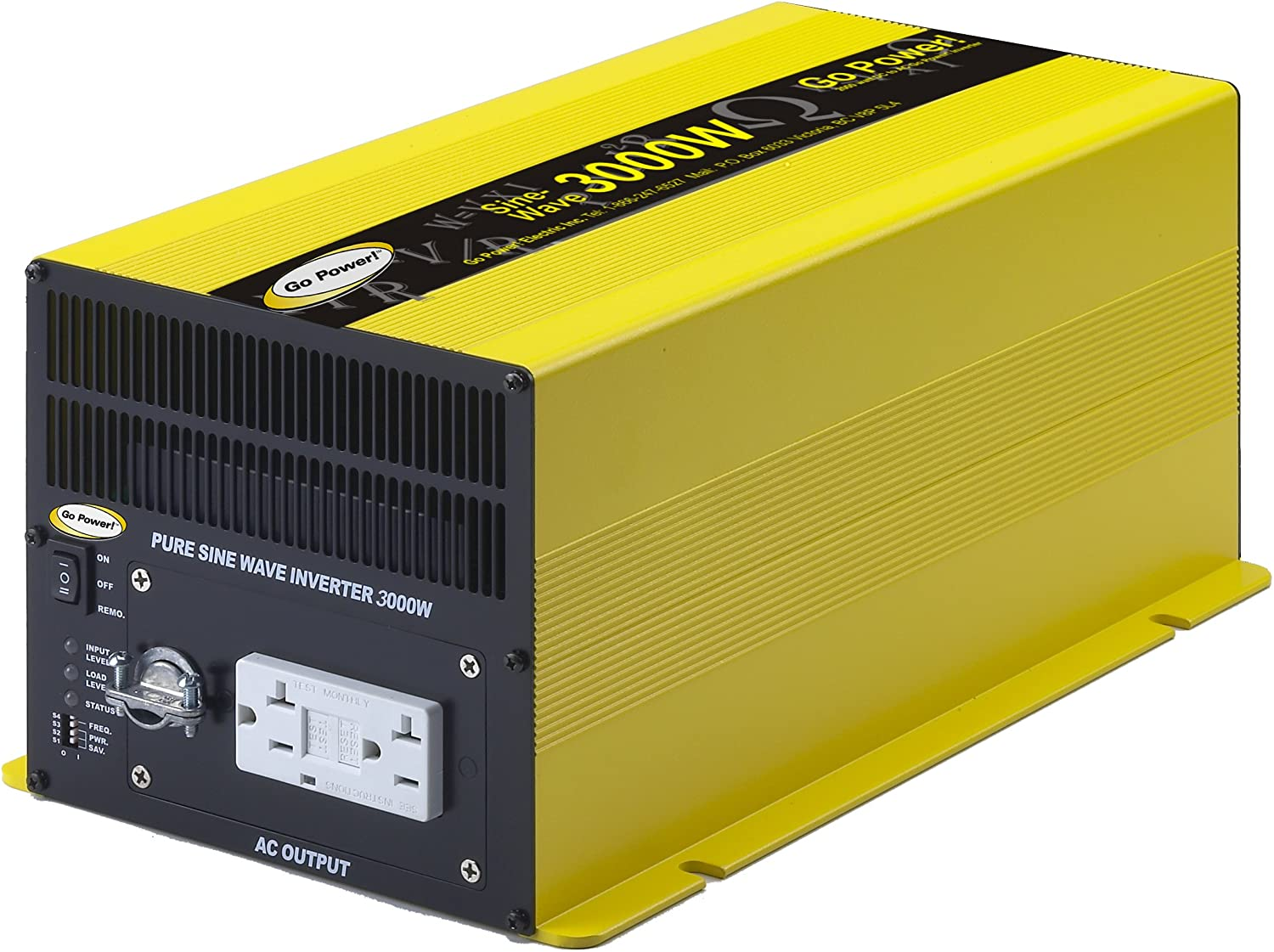 Go Power! GP-SW3000-12 3000-Watt Pure Sine Wave Inverter: Automotive