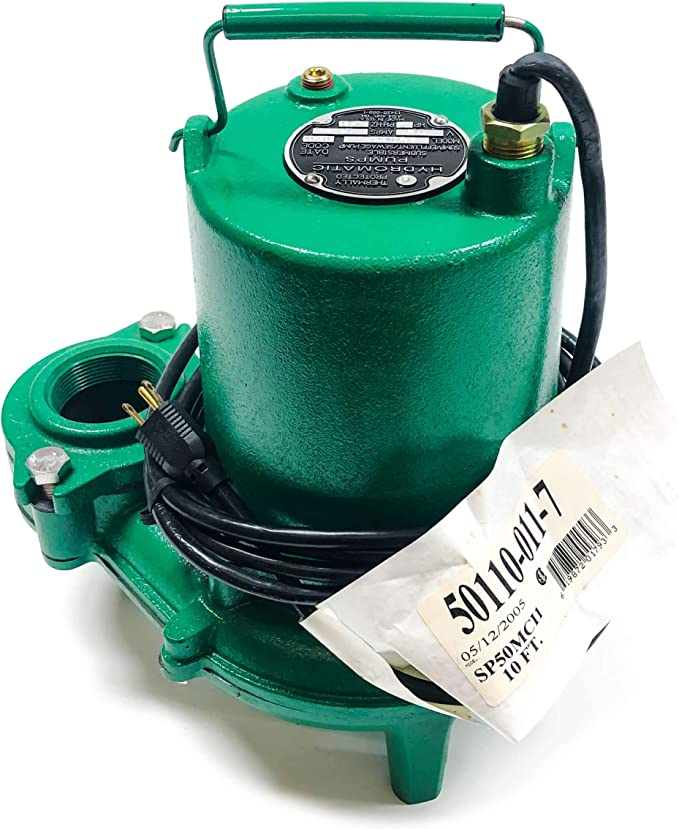 Hydromatic SP50M1 1/2 HP, 1 Phase, 115 Volt Cast Iron Submersible Sewage  Ejector Pump (Manual), 10' Cord - Power Water Pumps - Amazon.com | Hydromatic Pump Wiring Diagram |  | Amazon.com