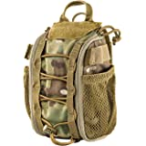 "OneTigris Empty IFAK Pouch 8"" x 5"" MOLLE Trauma Bag with Carry Handle and D-Ring for Camping Hunting Hiking Wilderness…"