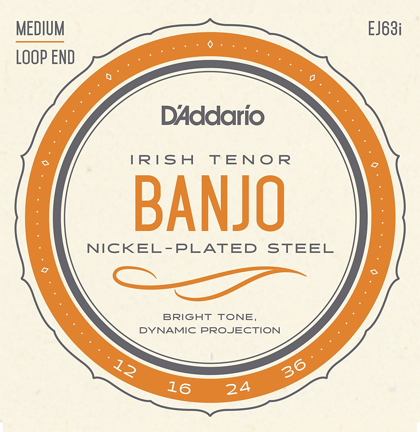 D'Addario EJ63I Nickel Irish Tenor Banjo Strings, 9-30 D' Addario