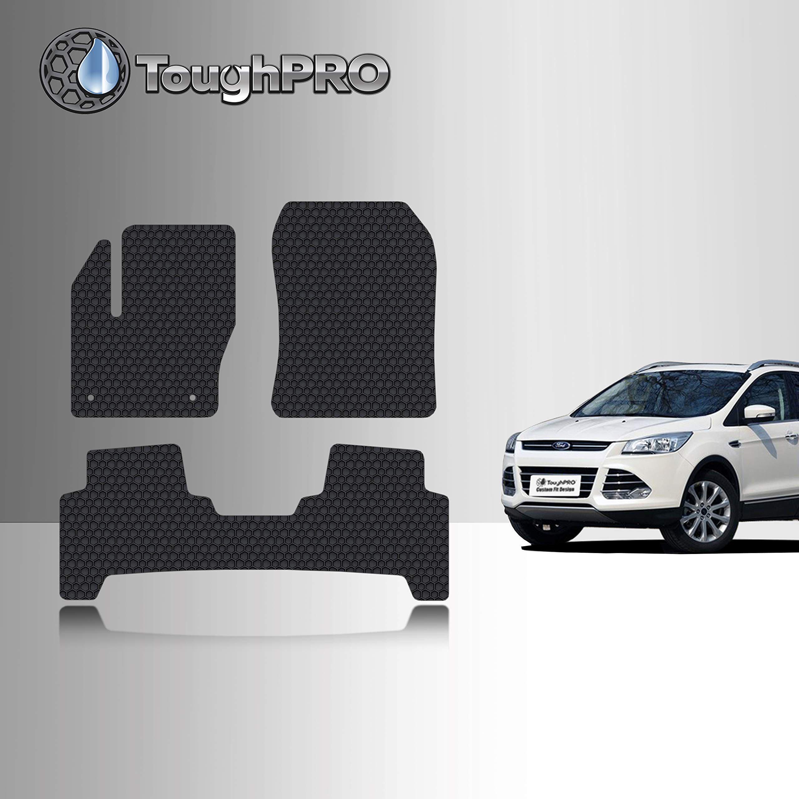 1st /& 2nd Row Liners Fits All 2013 2018 Escape Models Including C-Max 2016 2014 2017 Front /& Rear Liners - 100/% Weather Resistant 2015 Elements Defender 2013-2018 Ford Escape Floor Mats