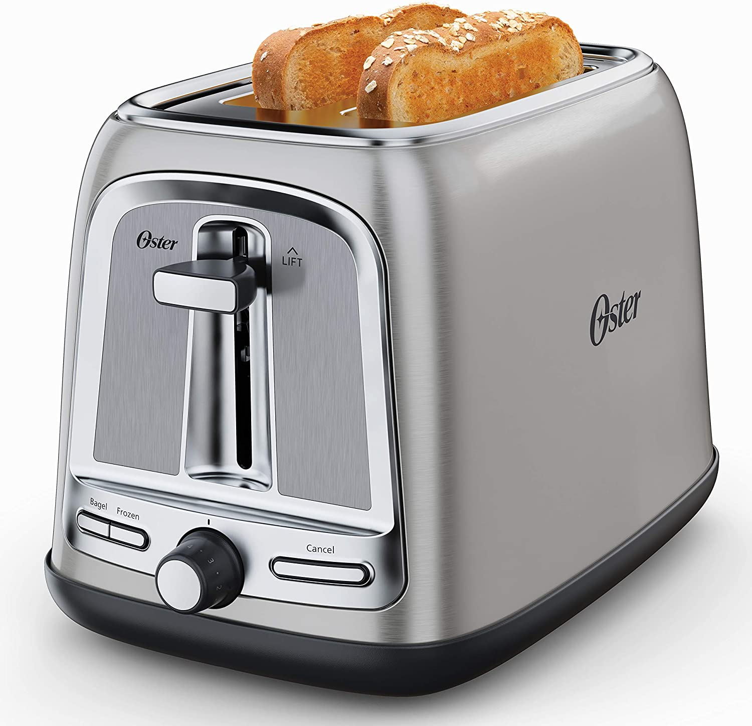 Oster 2-Slice Toaster with Advanced Toast Technology, Stainless Steel (Renewed)