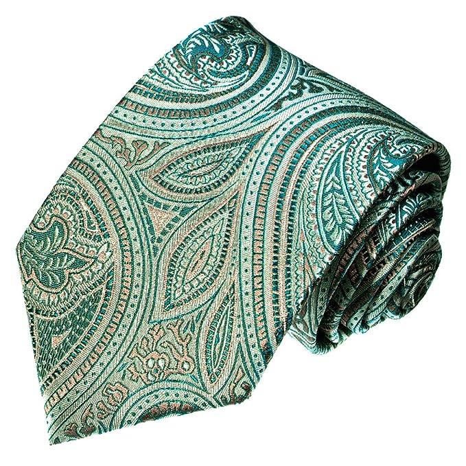 LORENZO CANA - Corbata - Paisley - para hombre Turquesa Azul Verde ...