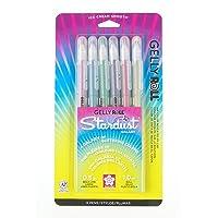 Sakura 37903 6-Piece Gelly Roll Assorted Colors Stardust Galaxy Pen Set