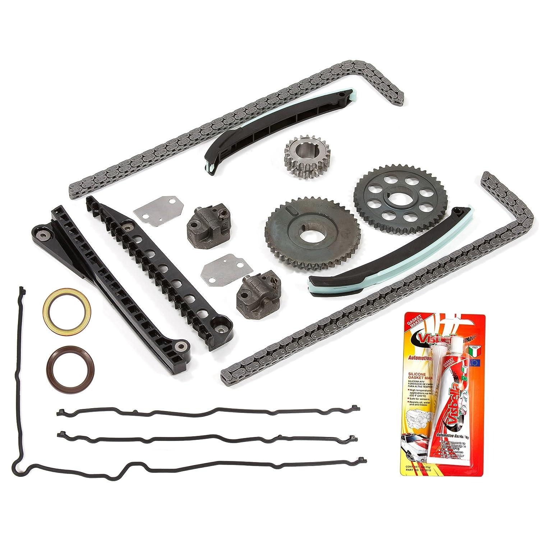 Z Timing Chain Kit Timing Cover Gasket Fits 02-08 Ford 5.4 SOHC 16V VIN L M