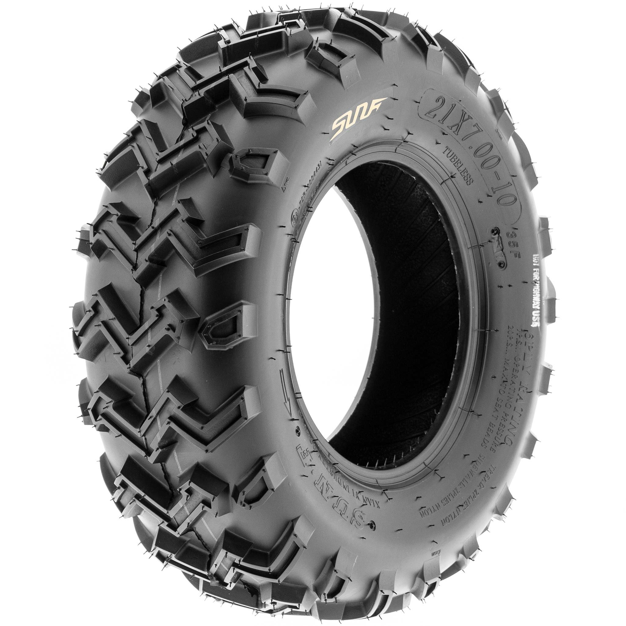 SunF 21x7-10 21x7x10 ATV UTV All Terrain Race Replacement 6 PR Tubeless Tires A001, [Set of 2] by SunF (Image #9)