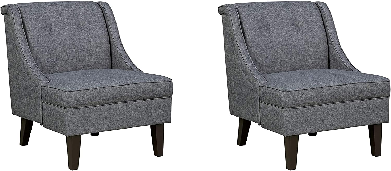 Signature Design by Ashley - Calion Contemporary Accent Chair, Dark Gray (Pack of 2)