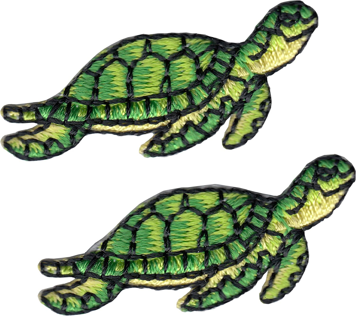 """Lot of 4 Cute 1+/"""" Blue Turtle Embroidery patch"""