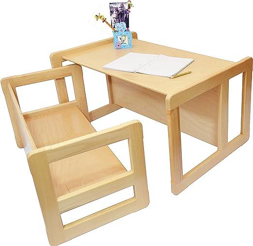 3 en 1 Muebles Multifuncional Para Niños Conjunto De Una Mesa ...