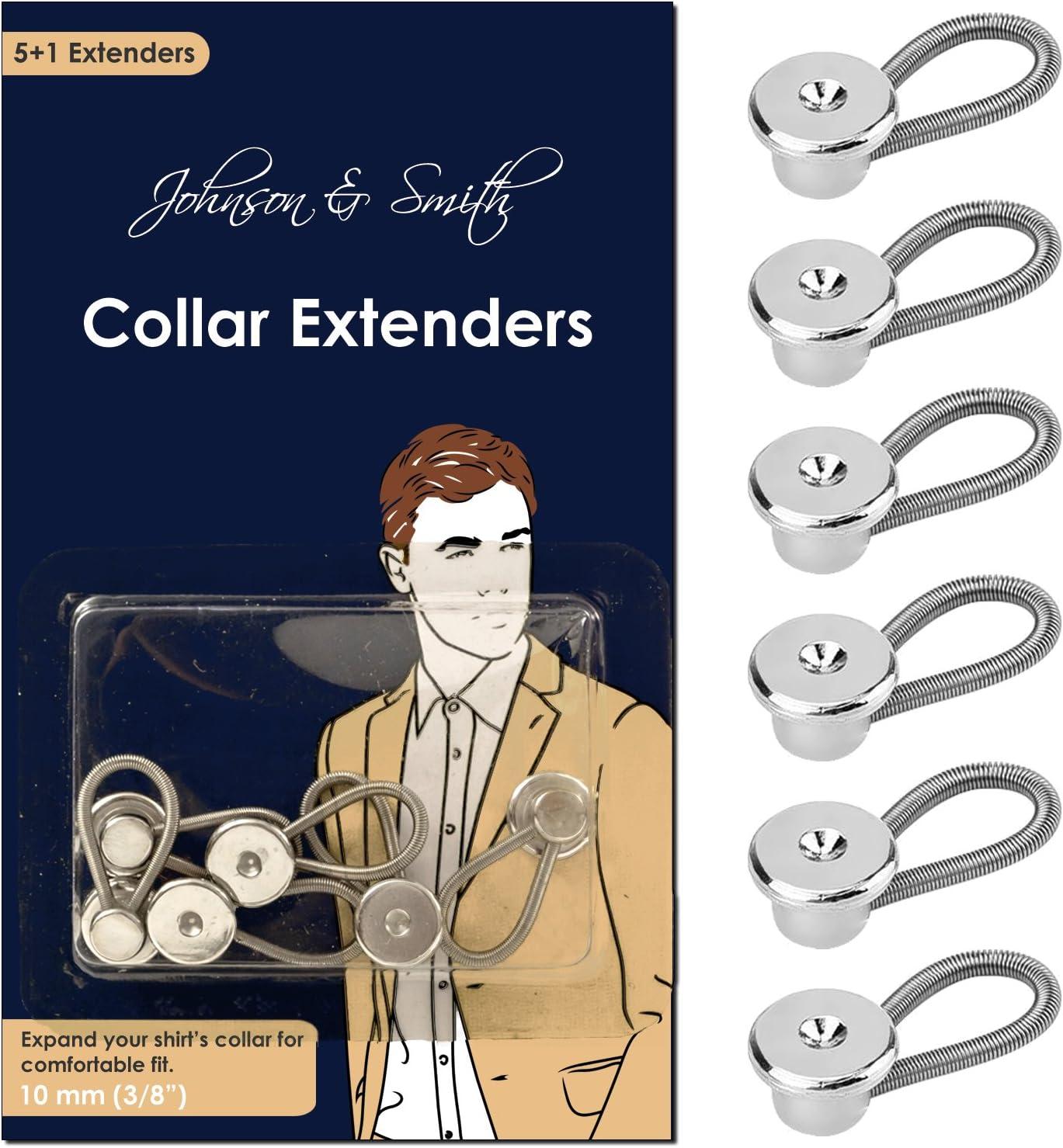 Black Collar Extender Top Button Shirt Extender Neck Extender/ Expansion of Men Dress Shirts 12 Pieces