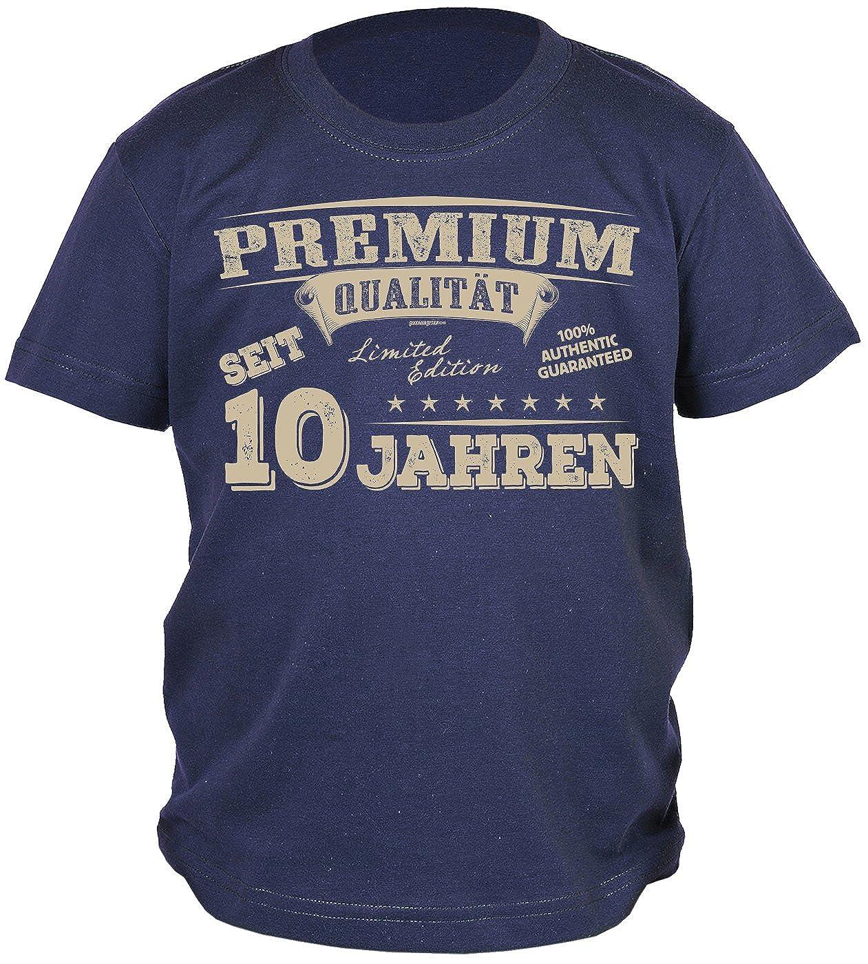 10.Geburtstag Sprüche T-Shirt Kindergeburtstag Junge : Premium Qualität Seit 10 Jahren - Kindershirt 10 Geburtstag DEKO 10 Jahre