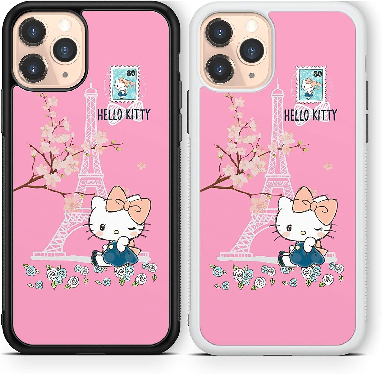 Hello Kitty case Compatible with iPhone 12 pro max Mini 11 XR X 7 8 SE Galaxy S20 Ultra S10 Note 10 20 TPU Cover SN151 (White, for iPhone 12/12 Pro)