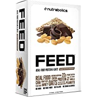Nutrabolics Feed Protein Bar Peanut Butter Chocolate, 12 Bars 900 Gram