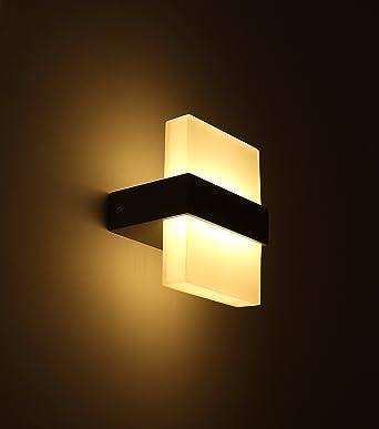 LED Luz Blanca Cálida lámpara de pared ideal para dormitorio, Salón, escalera y Lounge, aluminio, 2G11, 7.00W, 220.00V: Amazon.es: Iluminación
