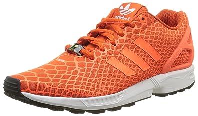 c1a44c86d adidas Original ZX Flux Techfit Mens Sneakers Shoes-Orange-8