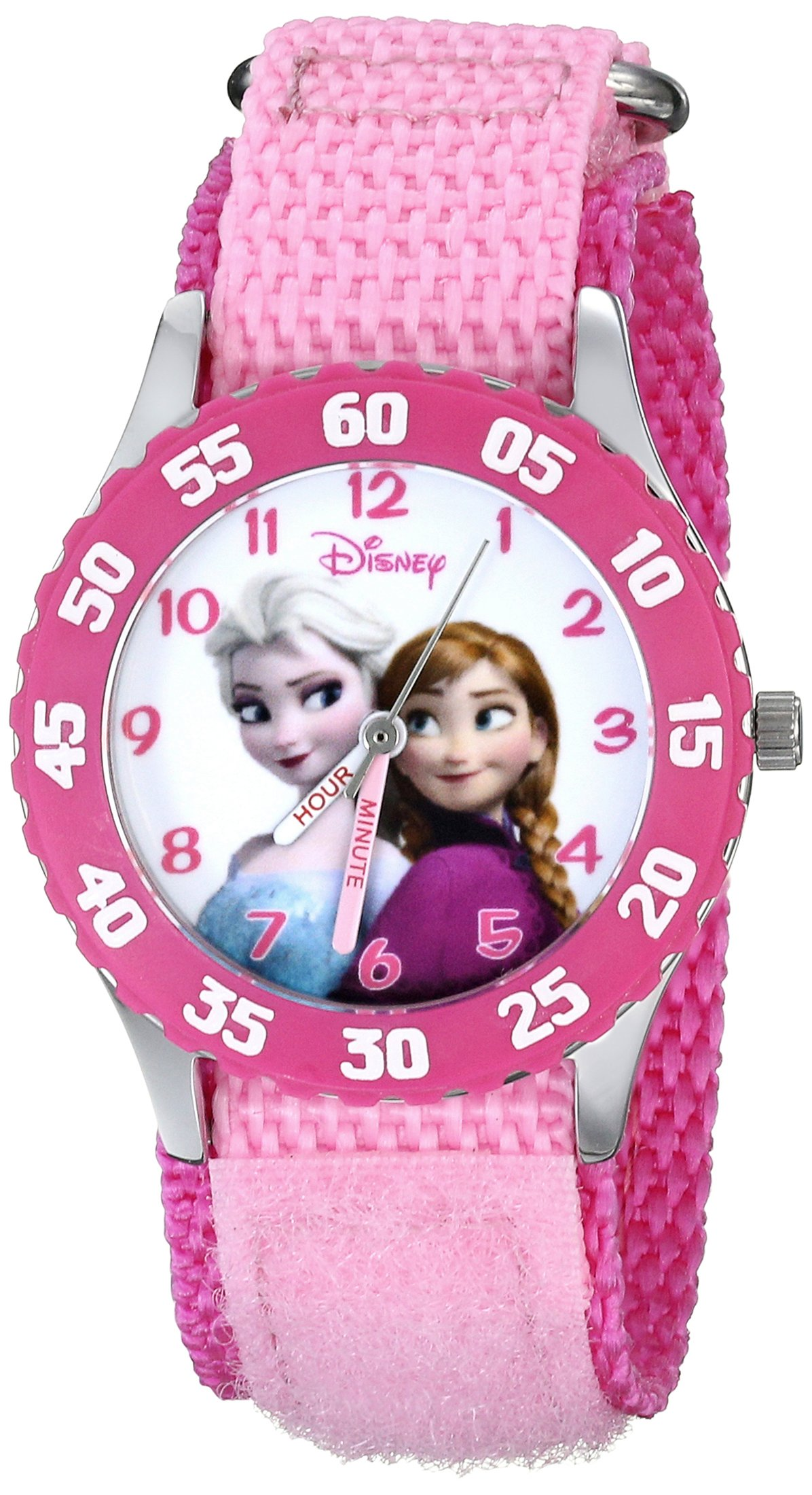 Disney Kids' W000970 Frozen Snow Queen Watch with Pink Nylon Band by Disney