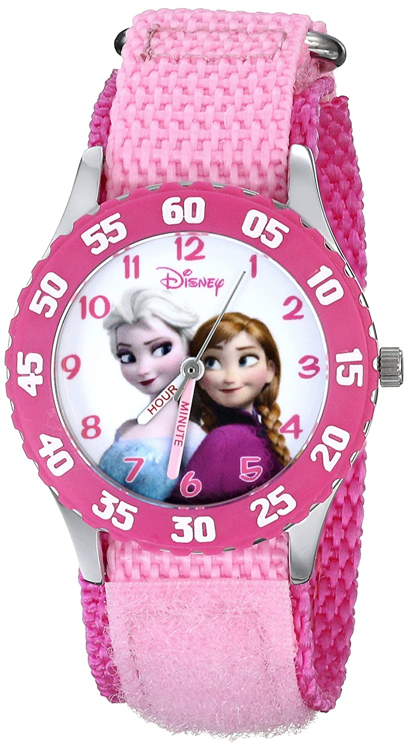 Amazon.com: Disney Kids\' W000970 Frozen Snow Queen Watch with Pink ...