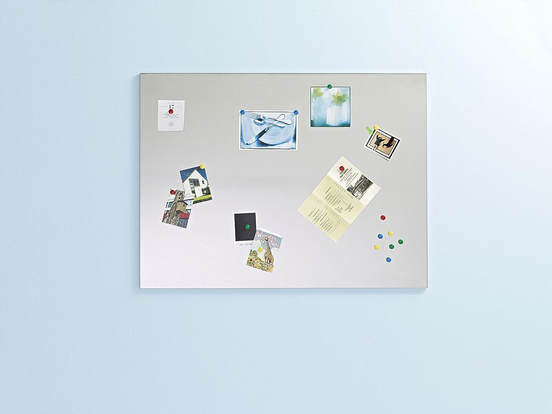 12 Magneten Edelstahl Magnettafel 90x120 cm inkl