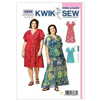 Amazon.com: Kwik Sew K3868 Dresses Sewing Pattern, Size 1X-2X-3X-4X ...