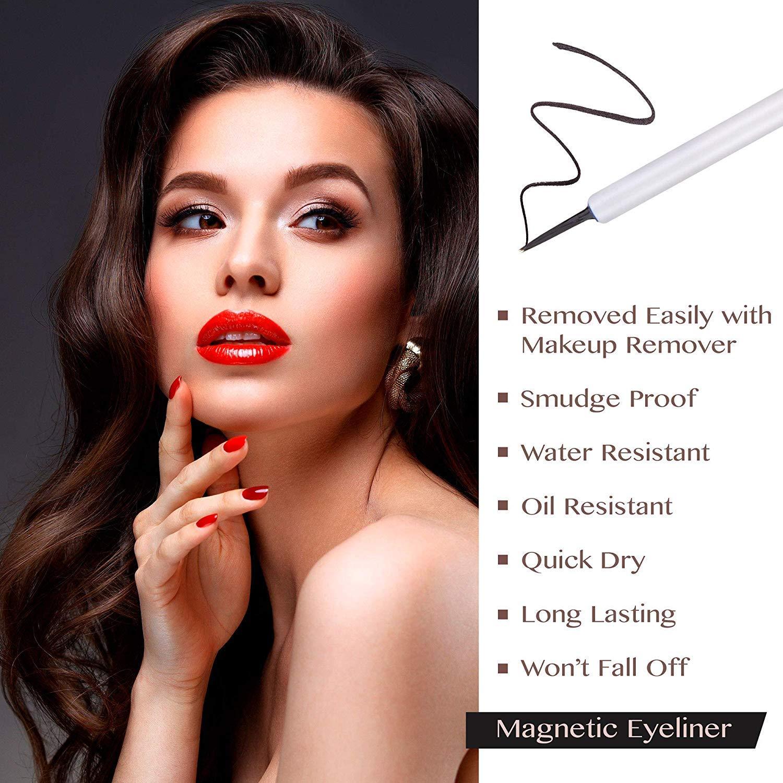 Magnetic Eyeliner With Eyelashes and Magnetic False Eyelash Kit