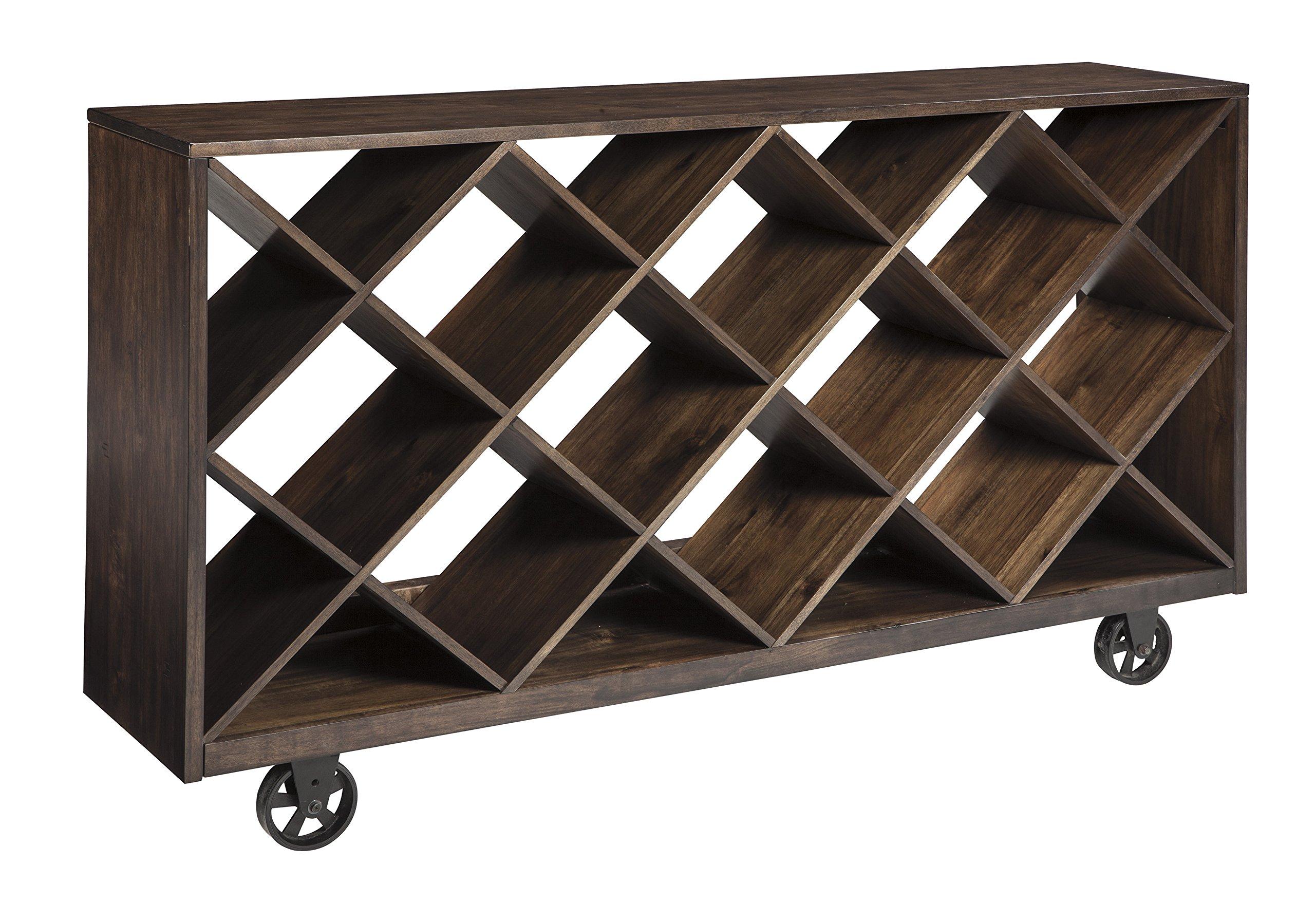 Ashley Furniture Signature Design - Starmore Shelf & Console Table - Rustic Contemporary Bookshelf - Brown