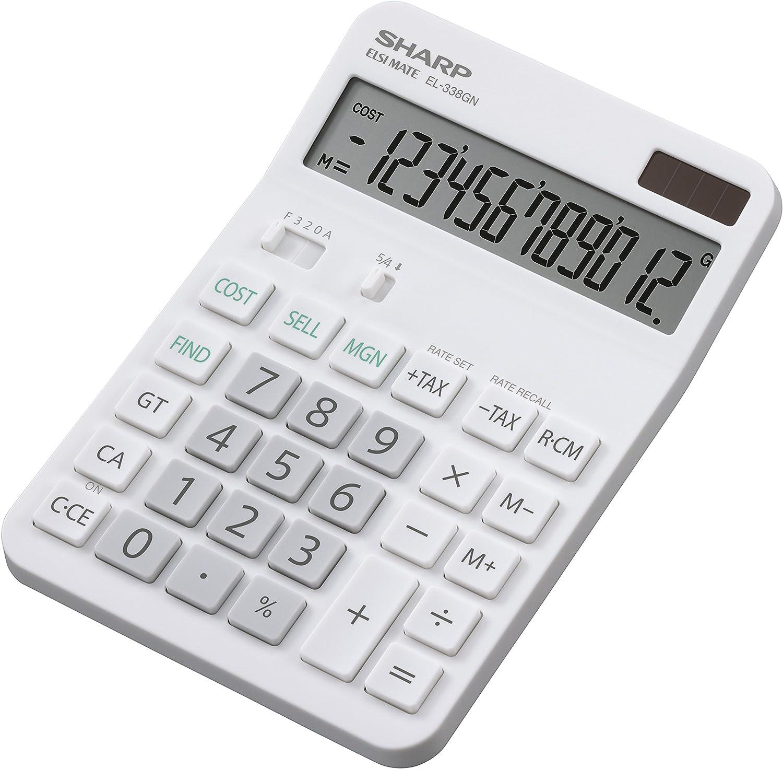Sharp Electronics EL338GN - Calculadora de mesa (12 decimales ...