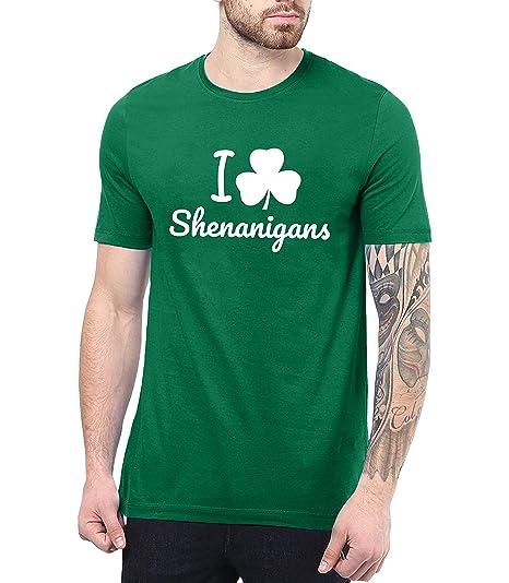 f25564f3 Decrum St Patricks Day Shirt Men Funny - Shamrock Shirts for Men    Shenanigans, S