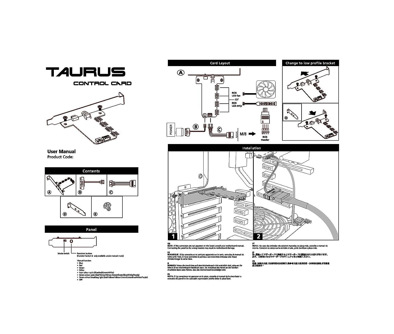 Ezdiy Taurus 12v Rgb Led Fan Strip Control Card Asus Electric Wiring Color Code Free Download Diagram Aura Sync Msi Mystic Light Asrock Biostar Racing Computers Accessories