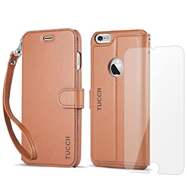 new style 4eedc ca103 TUCCH iPhone 6 Plus Case, iPhone 6S Plus Wallet Case, iPhone 6S Plus  Leather Case with [Hand Strap] [Card Holder] [Kickstand] Folio Case  Compatible ...
