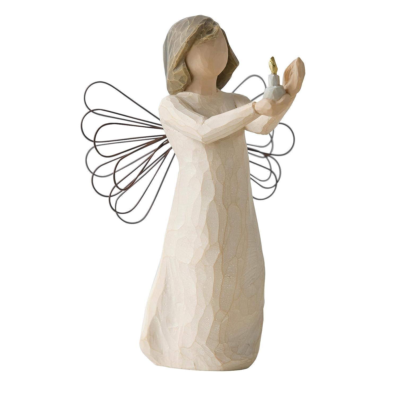 Figura ángel willow tree con vela
