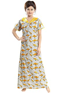 TUCUTE Womens Premium Cotton Fabric Duck Print Nighty Night Gown Nightwear  Nightdress. 0ddf3f994