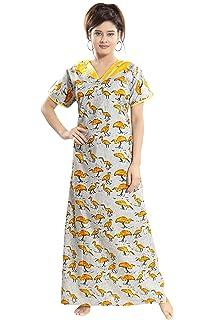 TUCUTE Womens Premium Cotton Fabric Duck Print Nighty Night Gown Nightwear  Nightdress. 1ed60faf0