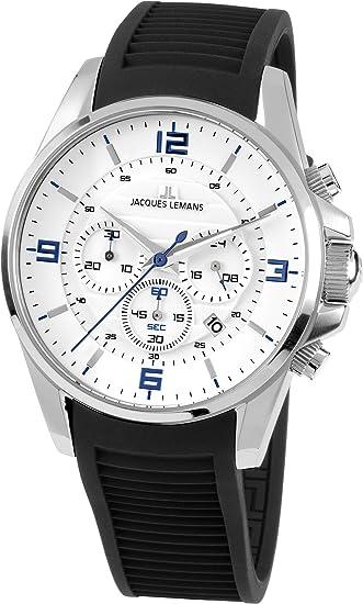1e3248fa5427 Jacques Lemans Reloj de Pulsera 1-1799B  Amazon.es  Relojes