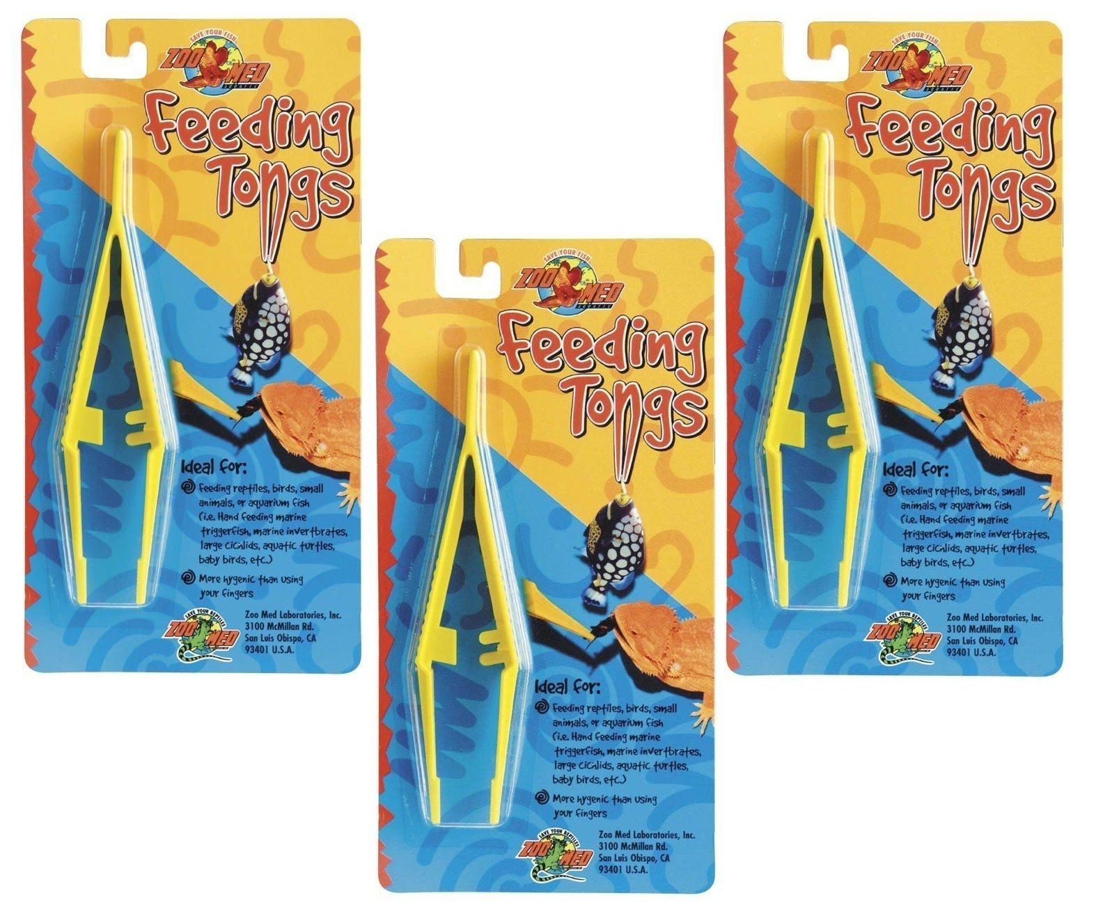 (3 Pack) Zoo Med Laboratories Feeding Tongs