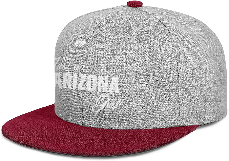 Men Women Trucker Hats Just an Arizona Girl Born and Raised Snapback Adjustable Caps