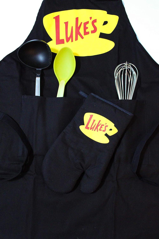 Luke's Diner Apron and Oven Mitt Gift Set-Gilmore Girls Merchandise-Inspired by TV Show