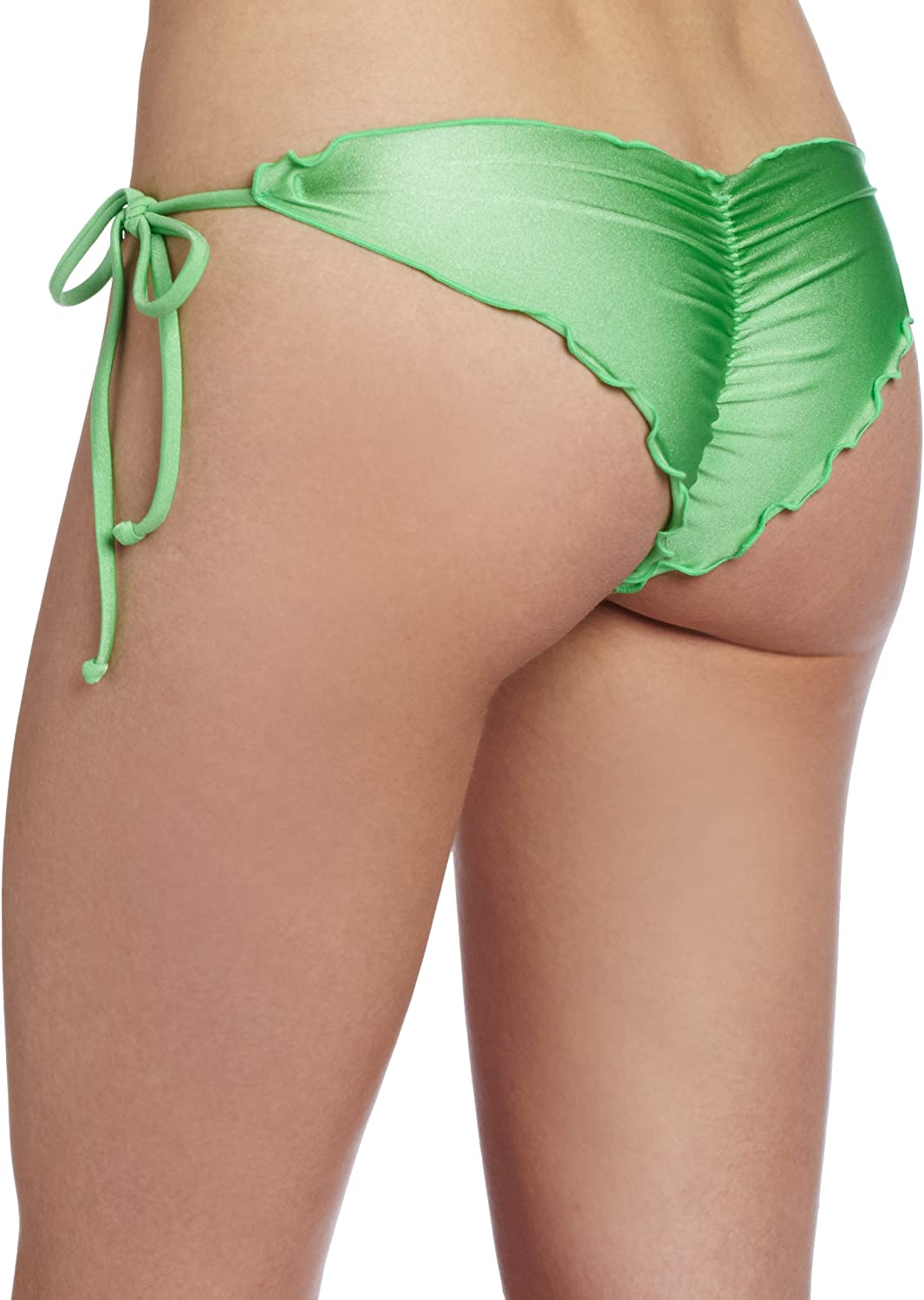 Luli Fama Womens Cosita Buena Wavy Tie-Side Brazilian Bikini Bottom