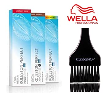 f966a20a86c5 Amazon.com   Wella KOLESTON Perfect INNOSENSE Permanent Creme Hair Color  (with Sleek Tint Brush) (0 43 - Red Gold)   Beauty